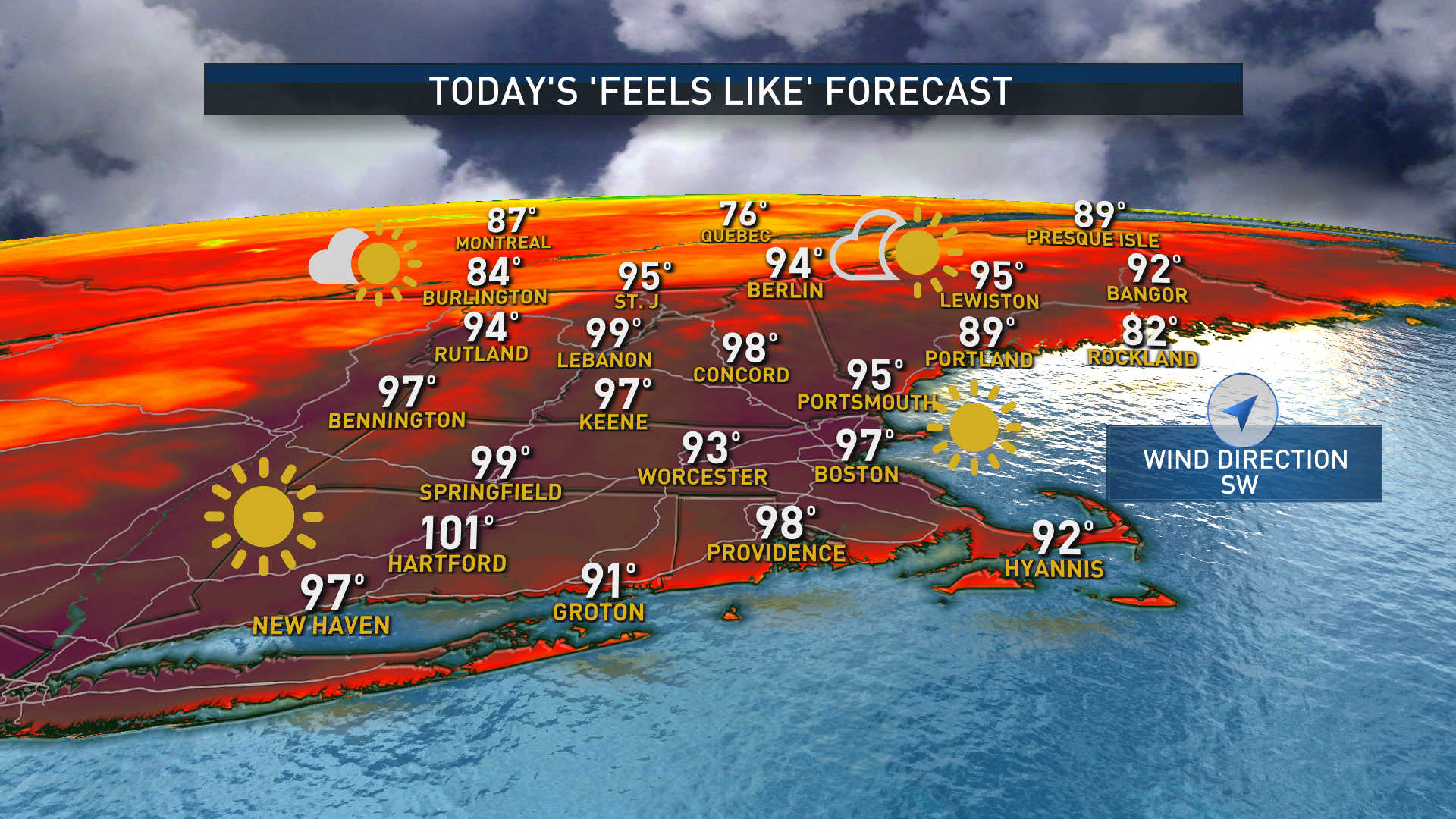 """Today's """"Feels Like"""" Forecast"""