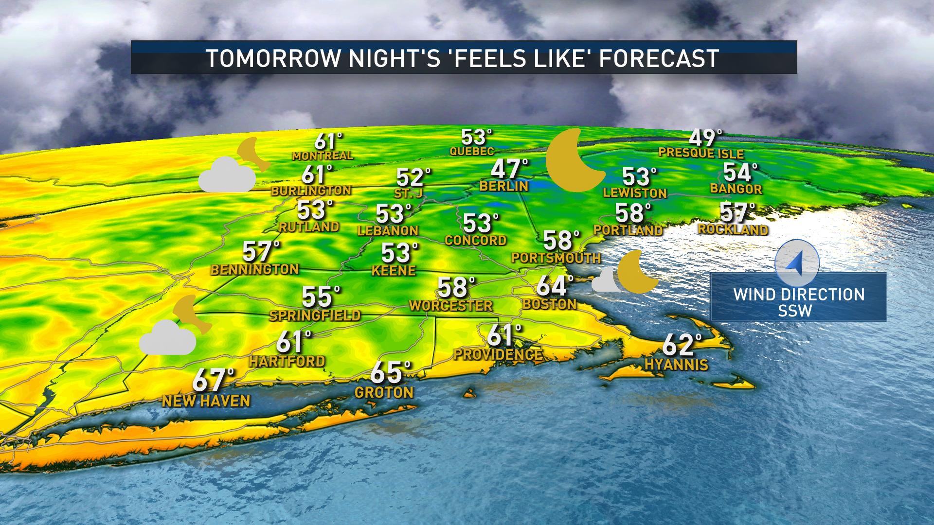 "Tomorrow Night's ""Feels Like"" Forecast"