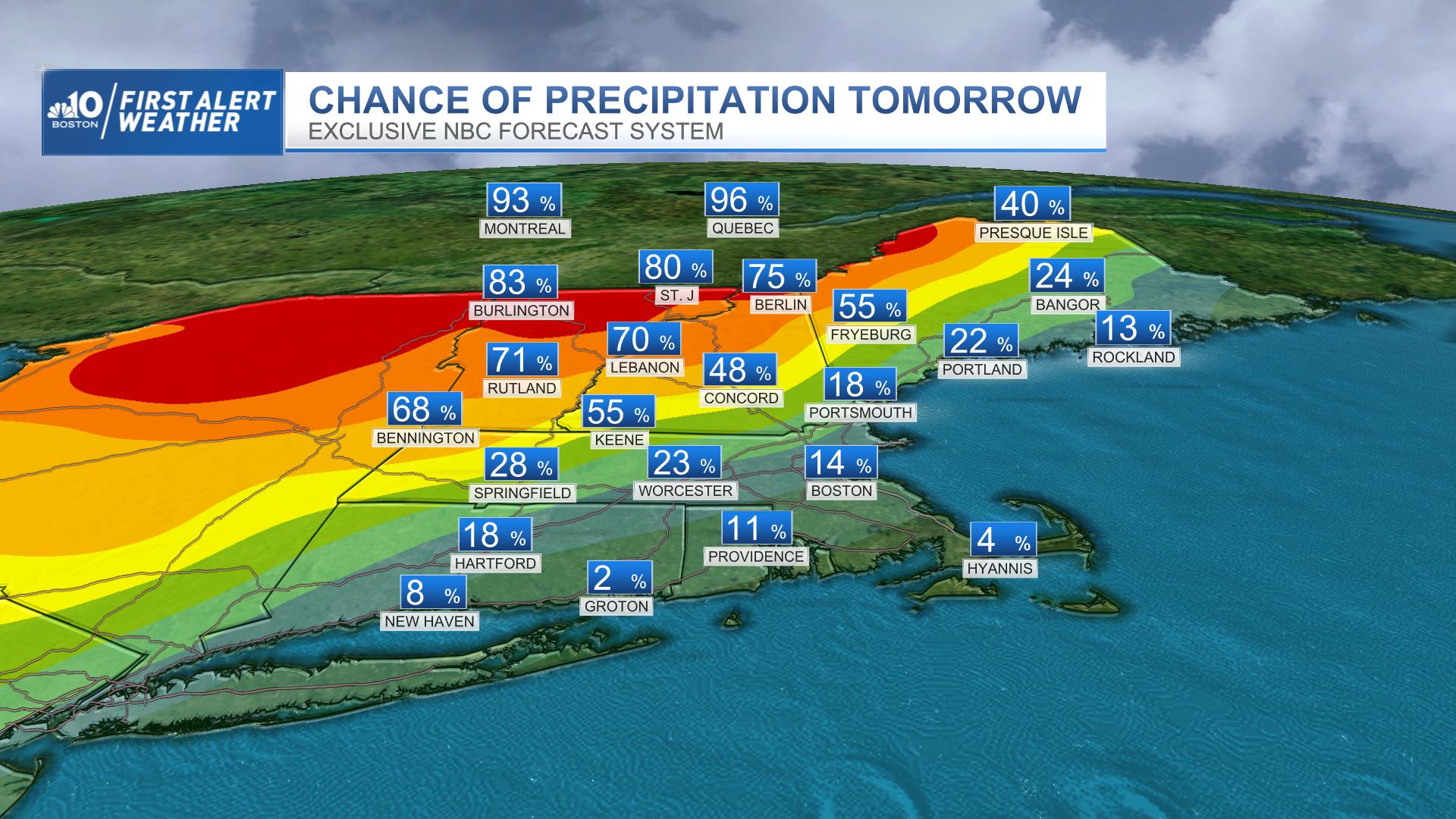Tomorrow's Chance of Precipitation