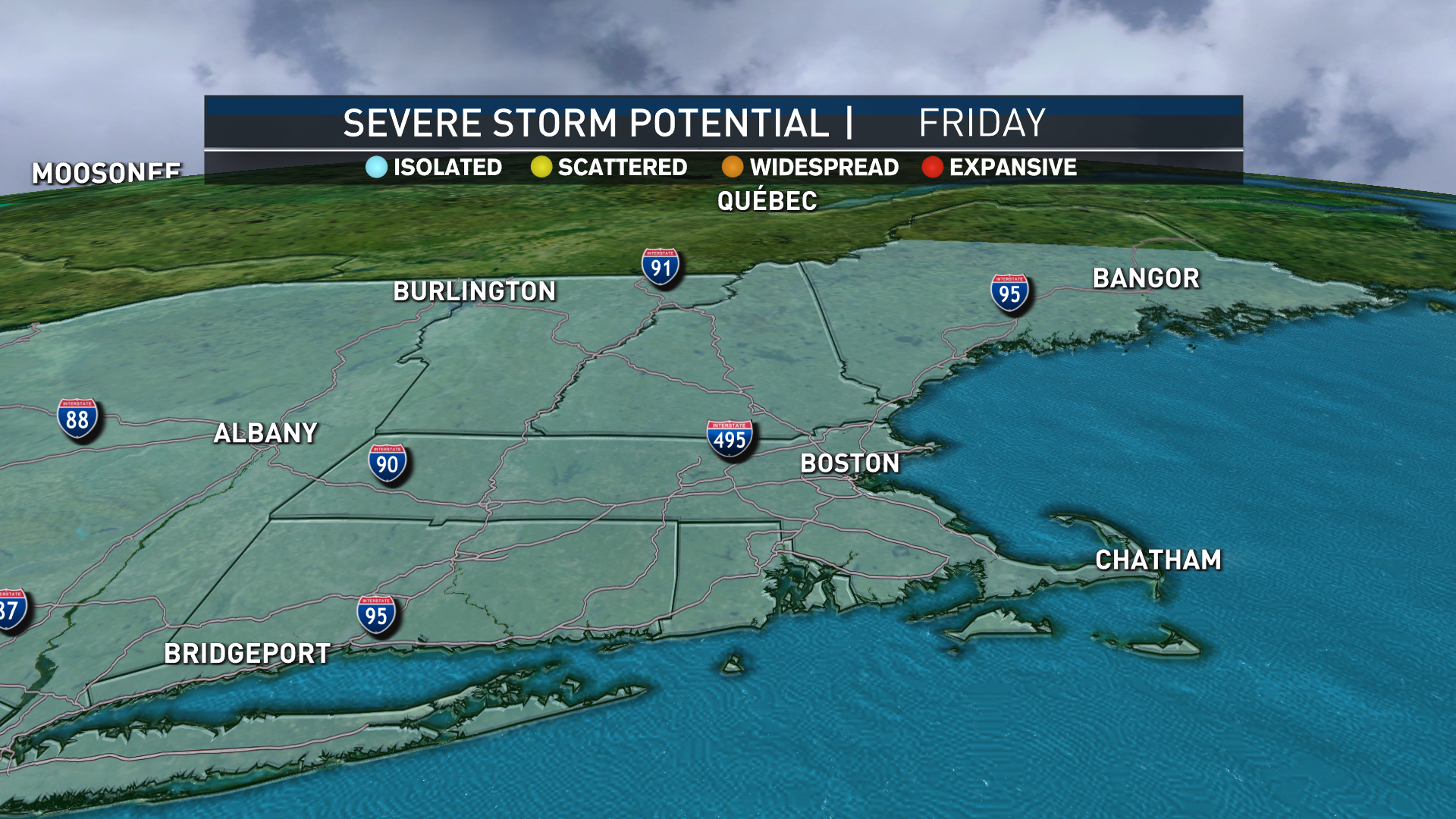 Today's Thunderstorm Potential