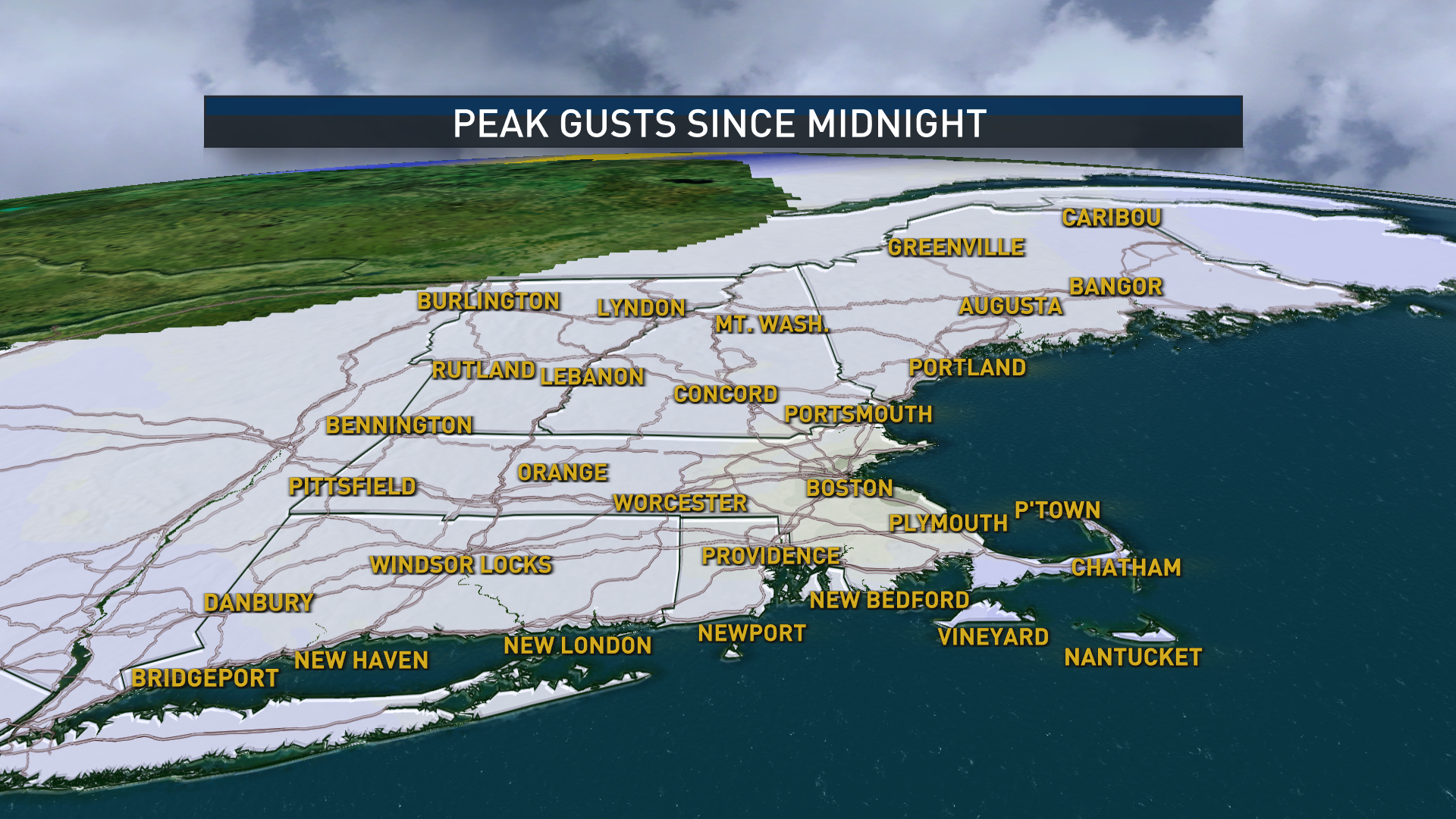 Peak Wind Gusts Today
